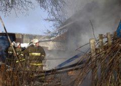 В Кинешме утром сгорел дом: площадь пожара 96 квадратов