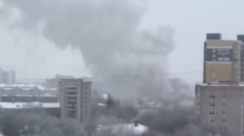 Видео пожара на Типографской снял один из жителей города