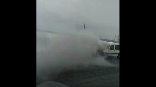 Авария на трассе Приволжск — Иваново: на ходу загорелась машина
