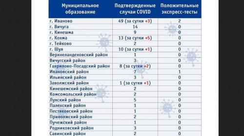 Статистика коронавируса по районам Ивановской области на 17 апреля