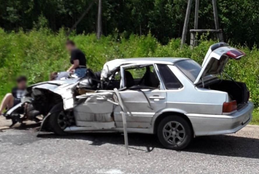В ДТП на трассе «Иваново-Ярославль» пострадал водитель ВАЗ-2115