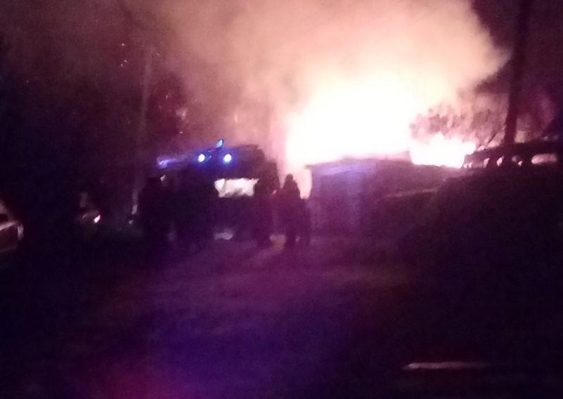 Пожар в Заволжске: сгорел заброшенный дом