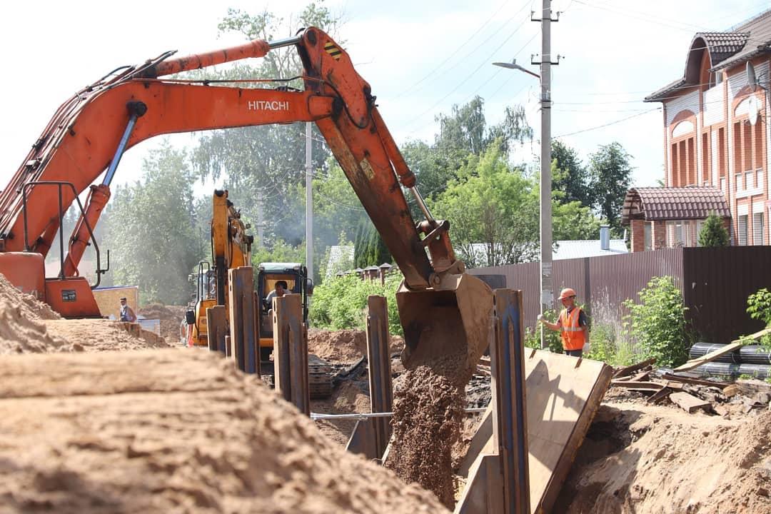 В микрорайон Новая Ильинка ведется центральная ливневая канализация