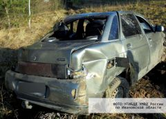 Девушка за рулем «десятки» перевернула машину на трассе Приволжск-Плес