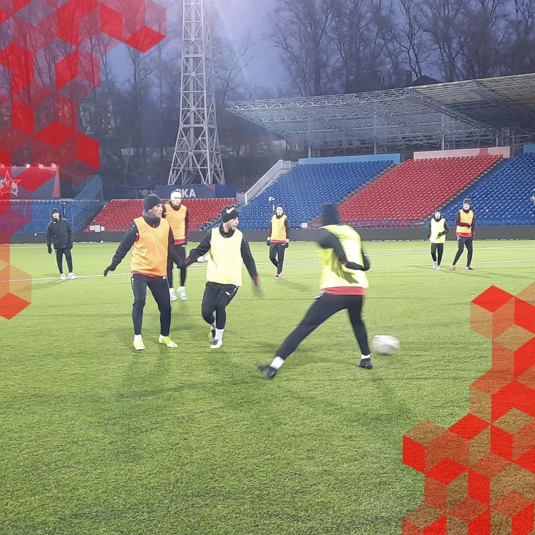 ФК «Текстильщик» провел тренировку перед матчем с СКА-Хабаровск