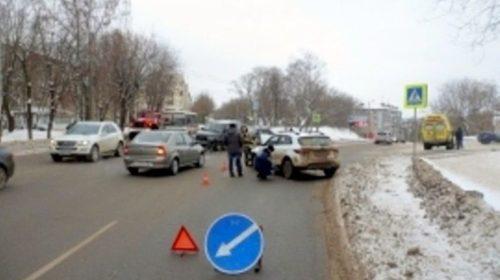 Очередное ДТП с пострадавшим произошло в городе Кинешма