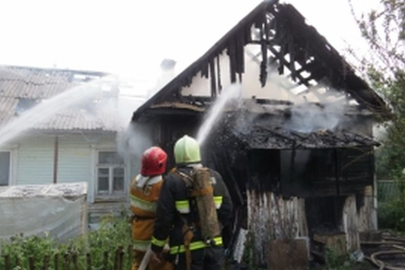 В Кинешме сгорел жилой дом