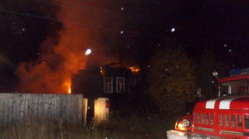 В Заволжске сгорел дом: есть пострадавший