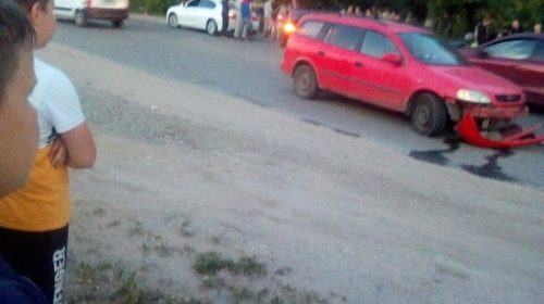 Легковушка и мотоцикл столкнулись в Кохме
