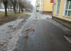 В Вичуге посыпка тротуаров вызвала недоумение у горожан