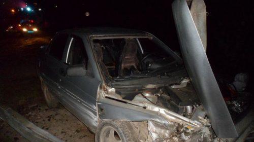 Авария в Кинешемском районе: «ВАЗ» налетел на ограждение дороги