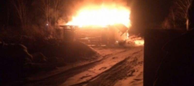 Серьезный пожар произошел в Шуе вчера вечером