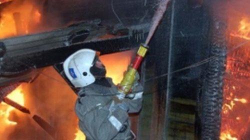 В Кинешме на улице Граничной горел частный дом