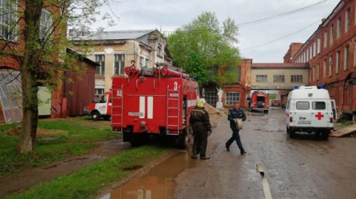 Пожар на Громобоя: горело 2-этажное офисное здание