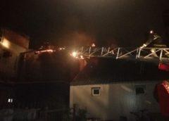 На Сосновой, 28, тушили пожар площадью 200 квадратных метров