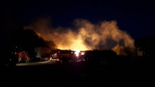 В Савинском районе сгорел склад готовой продукции на 300 квадратах