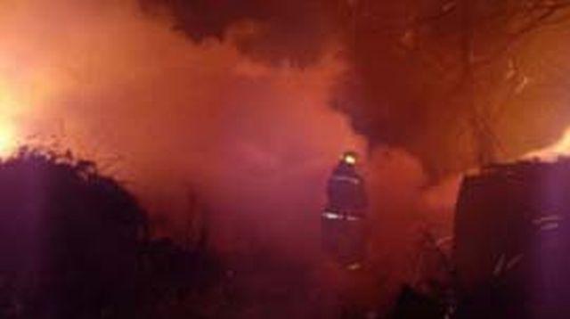 Утром практически полностью сгорел частный дом в Кинешемском районе