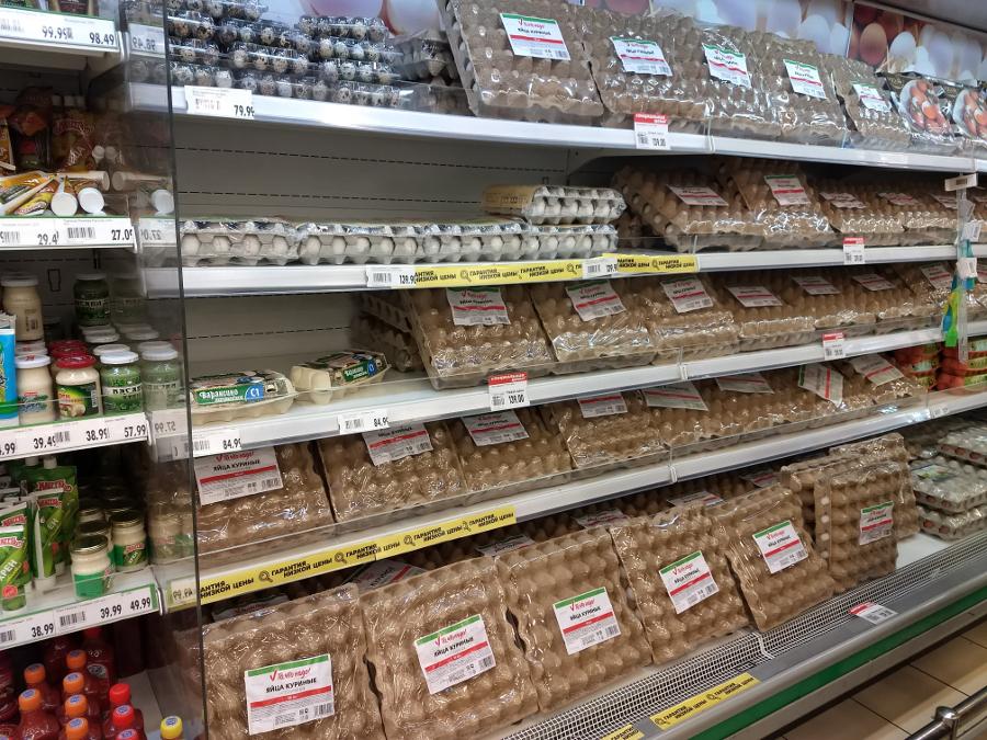 Цена еды: продукты подорожали 5,2% за месяц почти во всех магазинах