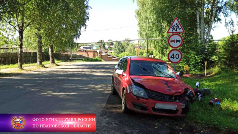 В ДТП в Новописцово Вичугского района погиб подросток на мопеде