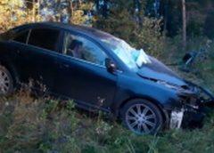 У АЗС в Палехском районе в ДТП попал легковой автомобиль