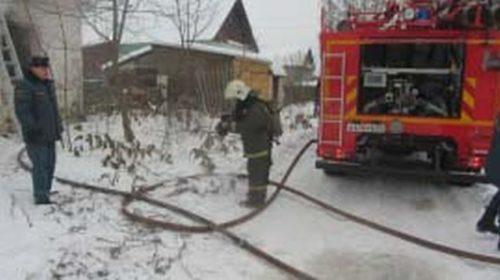 В Ильинском районе горел большой жилой дом