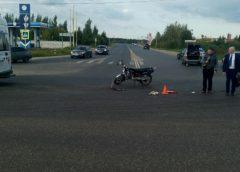 В Ивановском районе во время столкновения с «Ладой» пострадал мопедист