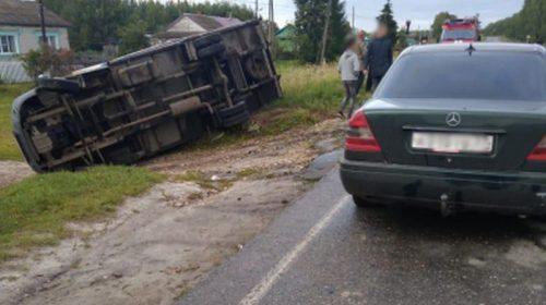 Авария в Верхнеландехском районе: перевернулся «ГАЗ» и травмированы двое