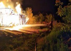 В Кохме сгорела пилорама с оборудованием и готовой продукцией