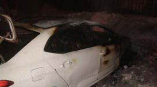 После пожара в деревне Мальцево Приволжского района поврежден автомобиль