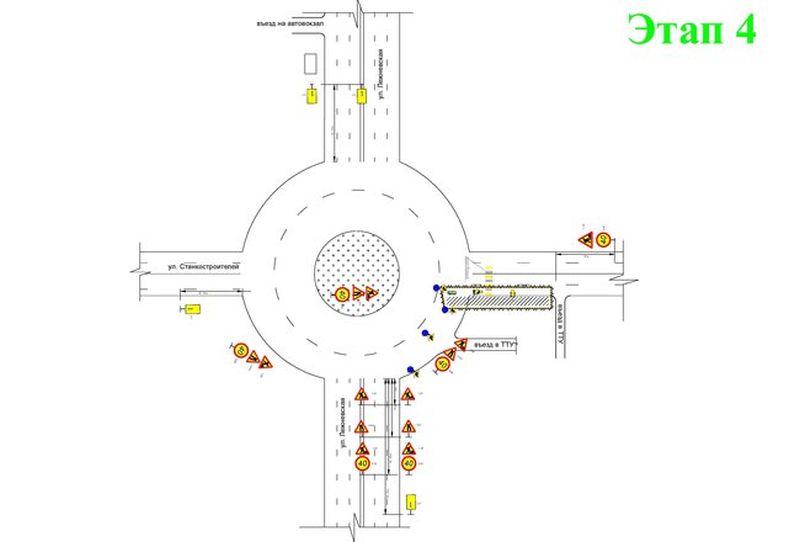 Поменялась схема движения транспорта по кольцу у автовокзала в Иванове