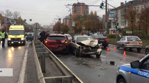 Авария на Лежневской: столкнулись пять иномарок