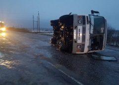 В Вичугском районе перевернулся автобус с пассажирами