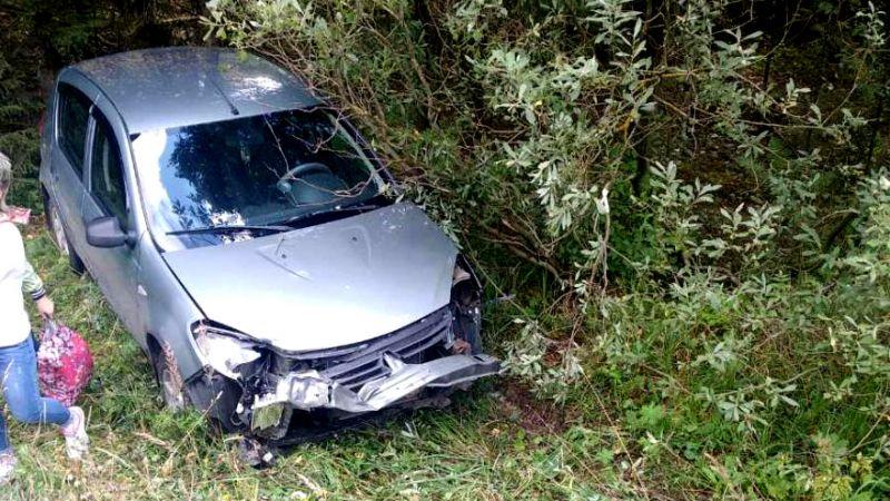 Авария в Ивановском районе: две иномарки вылетели в кювет