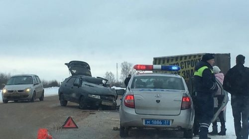 Авария на трассе Иваново — Родники, все выжили