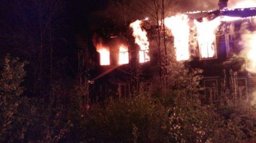 Большой пожар в Юрьевце: горел 8-ми квартирный дом