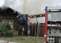В Шуе на пожаре погиб человек
