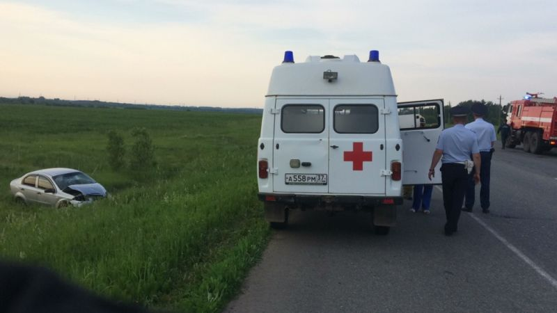 На трассе Ковров-Кинешма «Шевроле» вылетел в кювет