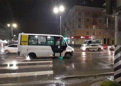 На проспекте Ленина маршрутка сбила пешехода