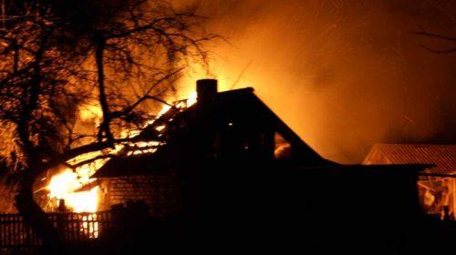 Пожар в Ивановском районе: в деревне Бухарово сгорели два дома