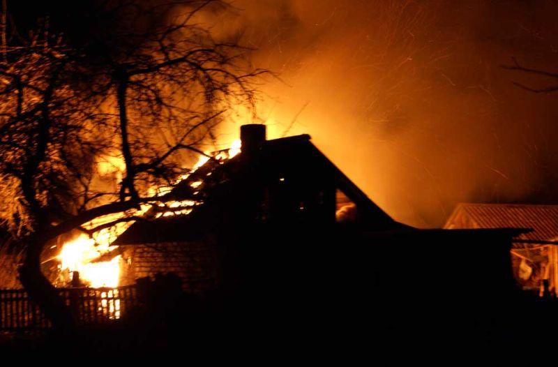 Сгорела деревня Гринино