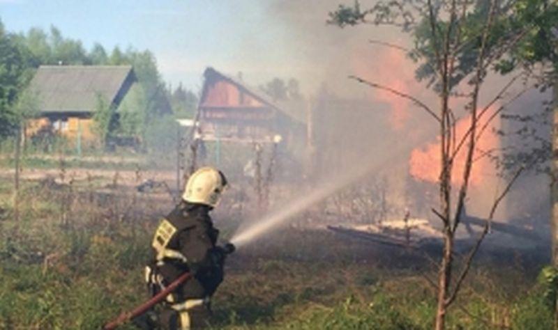 В Шуе сгорел частный дом