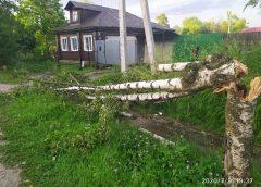 Ураган в Фурманове повалил деревья и сорвал крыши домов