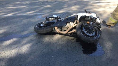 На перекрестке Ленина – Якова Гарелина в ДТП пострадал мотоциклист