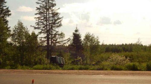 На трассе Тейково-Г.Посад перевернулся автомобиль