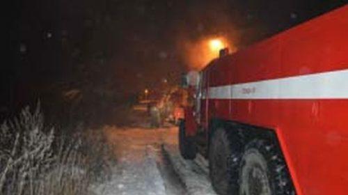 Пожар в Верхнем Ландехе: сгорела котельная на Строителей