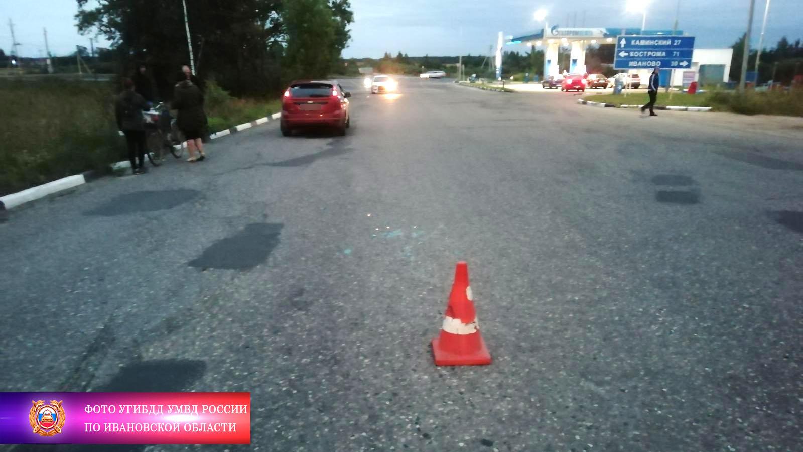 В Фурманове пенсионерке на велосипеде в ДТП разбили лицо и составили протокол