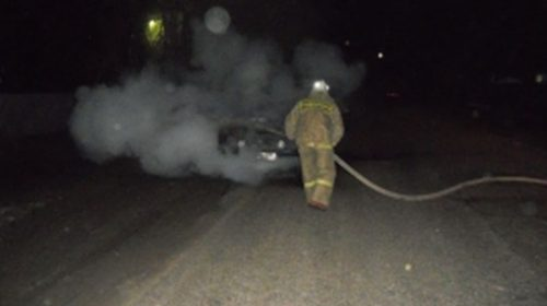 На Рабфаковской ночью горел автомобиль